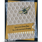 CARD: Amazing Bumble Bee card featuring Hexagon Impressions Folder