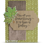 SNEAK PEEK: May All Your Tomorrows Be Happy Card from Colorful Seasons