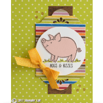 SNEAK PEEK: Hogs and Kisses card from This Little Piggy Set