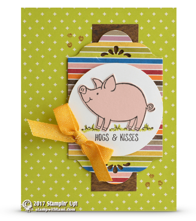 Stampin Up Hogs and Kisses card