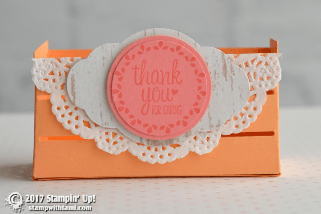 Stampin Up Wood words textures crate die
