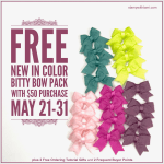 FREE In Color Bitty Bows & more with $50 purchase – ends May 31