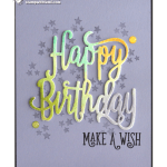 CARD: Watercolored Happy Birthday Make a Wish Card