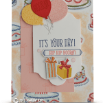 CARD: Hip Hip Hooray It's Your Day from the Birthday Delivery Stamp Set