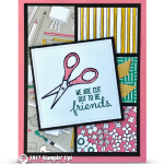 CARD: Cut Out to be Friends Card from the Crafting Forever Stamps