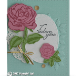 CARD: I Adore You Rose Card from the Graceful Garden Stamps
