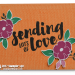 CARD: Bright and Cheery Sending Lots of Love Card