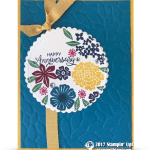 CARD: Happy Anniversary with Beautiful Bouquet