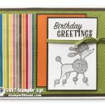 CARD: Birthday Greetings Poodle Card