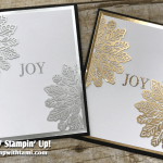 CARD: Set of Joy Cards from Cheers to the Year Stamp Part 1 of 2