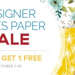 SALE: Buy 3, Get 1 Free Designer Series Paper – Ends October 31
