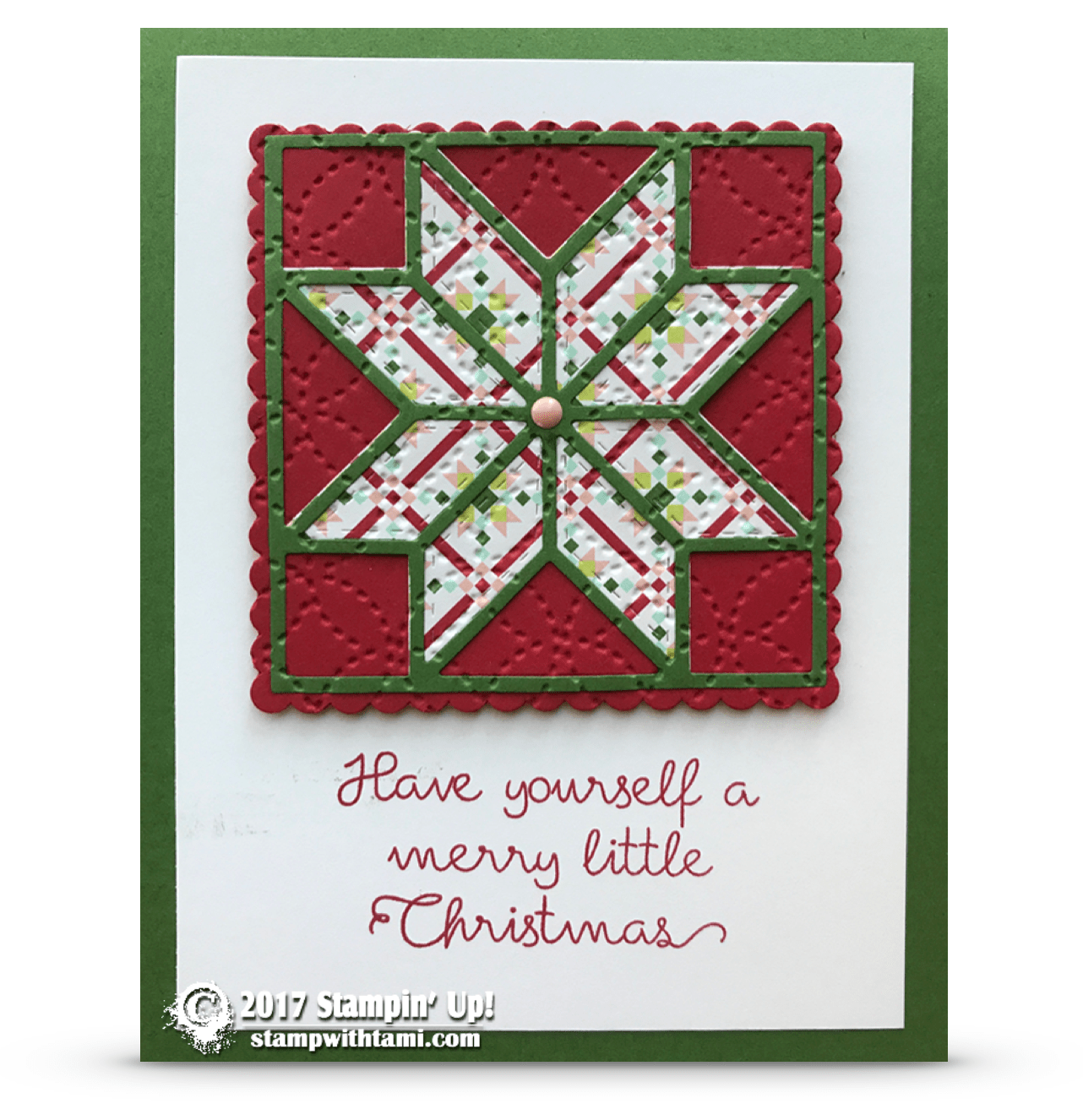 Card Merry Little Christmas Card From The Christmas Quilt Bundle