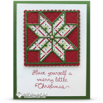 CARD: Merry Little Christmas Card from the Christmas Quilt Bundle Series Part 2 of 4