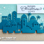 CARD: Blessed Christmas Wishes from Night in Bethlehem Stamps