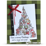 CARD: Meowy Christmas & Yappy New Year Santa Paws Card