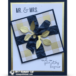 CARD: Mr & Mrs Wedding Card from the Season of Cheer Stamps