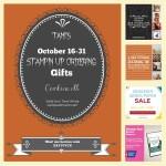 SPECIALS: Tami's Ordering Gift Tutorials  for October 16-31 – Hostess Code ZAY3VVCX