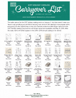 Carry Over List – Holiday Catalog