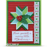 CARD: Merry Little Christmas from the Retiring Quilted Christmas Bundle