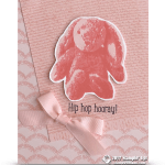CARD: Hip Hop Hooray baby card from the Sweet Little Something Stamp Set