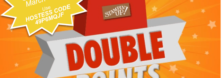 SPECIAL: Double Frequent Buyer Points – Earn Free Stamps March 1 – 15 – Hostess Code 49P6MQJF