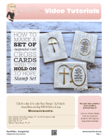 Suspended Gold Cross card set -stampwithtami-stampin up copy
