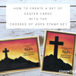 ONLINE CLASS: How to create a set of Hold On To Hope Easter Cards