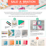 New Sale-a-Bration Products Released – March 15 – March 31