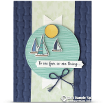 CARD: See Far Sailboats from the Lilly Pad Stamp Set