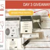 DAY 3 of 8 Days of Giveaways in May – 2 prizes a day, entry and details here