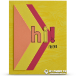 SNEAK PEEK: Hi Friend Card from the Lined Alphabet Bundle