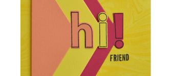 SNEAK PEEK: Hi Friend Card from the Lined Alphabet Bundle