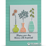 CARD: Blooms with Happiness Card from the Varied Vases Bundle