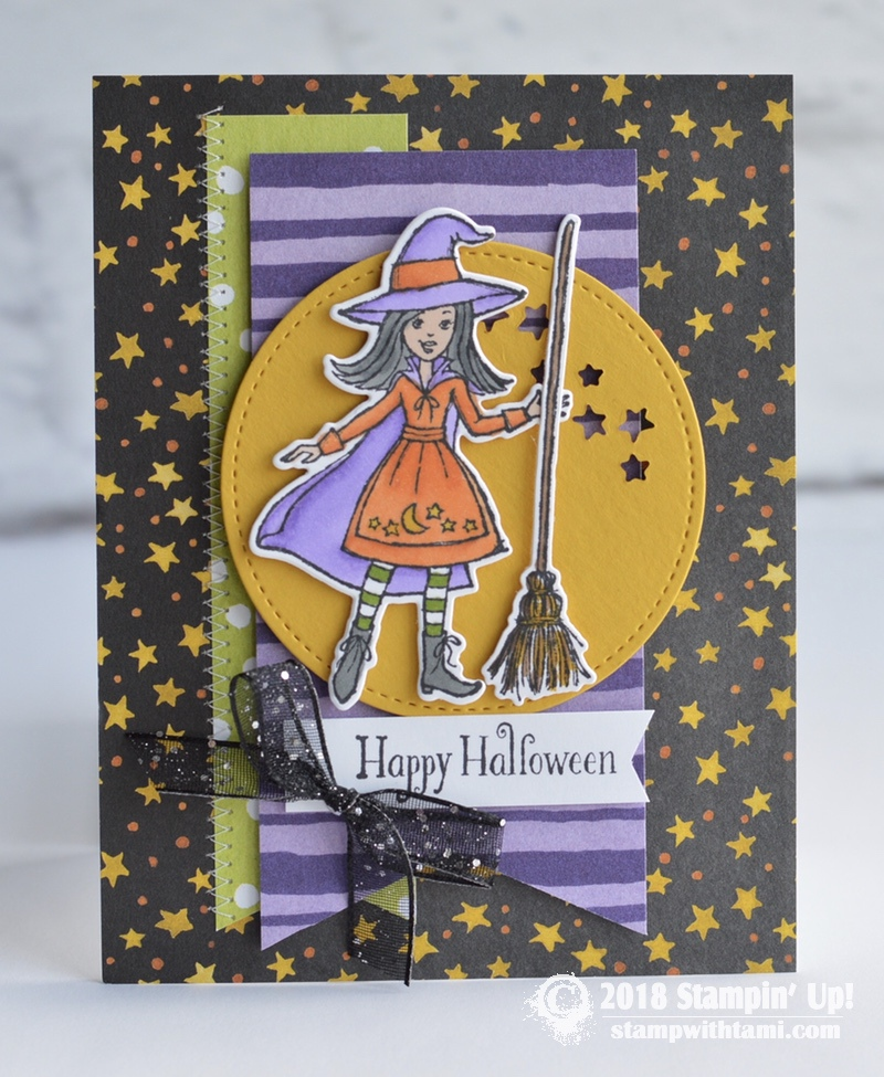 CARD Happy Halloween From The Cauldron Bubble Stamp Set
