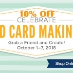 SALE: 10% OFF select products for World Card Making Day – October 1-7 only