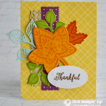 CARD: Thankful Fall card from the Falling for Leaves Bundle