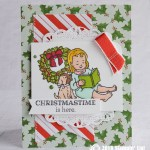 CARD: Christmastime is here from the Happiness and Cheer Stamp Set