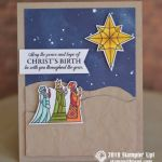CARD: 3 Wise Men Card from the Illuminated Christmas Stamps