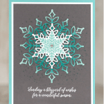 CARD: Cool Ombre Technique Snowflake Card from the Snowflake Showcase Suite