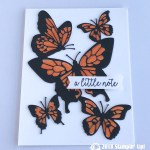 CARD: A Little Note of butterflies from the Butterfly Gala Bundle