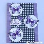 CARD: Hello Beautiful from the Butterfly Gala Stamp Set