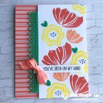 SNEAK PEEK: You've Been On My Mind Card from the new Bloom by Bloom Stamps