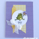 CARD: Hoppy for you froggy and butterfly from Sale-a-bration