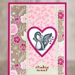 CARD: Stinkin' Sweet Skunk Valentine's Day Card from the Hey Love Stamps Part 2