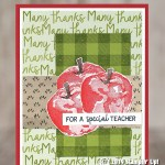 CARD: Special Teacher card from the Picked for You stamp set