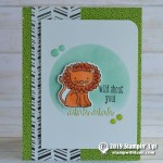 CARD: Wild About You Lion Card from A Little Wild stamp set