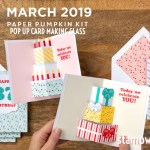 "VIDEO: March Paper Pumpkin Kit ""Poppin' Birthday"" Kit Reveal & Giveaway"
