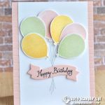 CARD: Happy birthday card from the Balloon Celebration Stamps