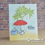 CARD: You deserve to relax card from the Beach Happy Stamps