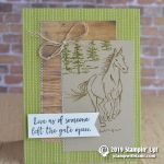 CARD:  Leave the gate open horse card from the Let it Ride stamps